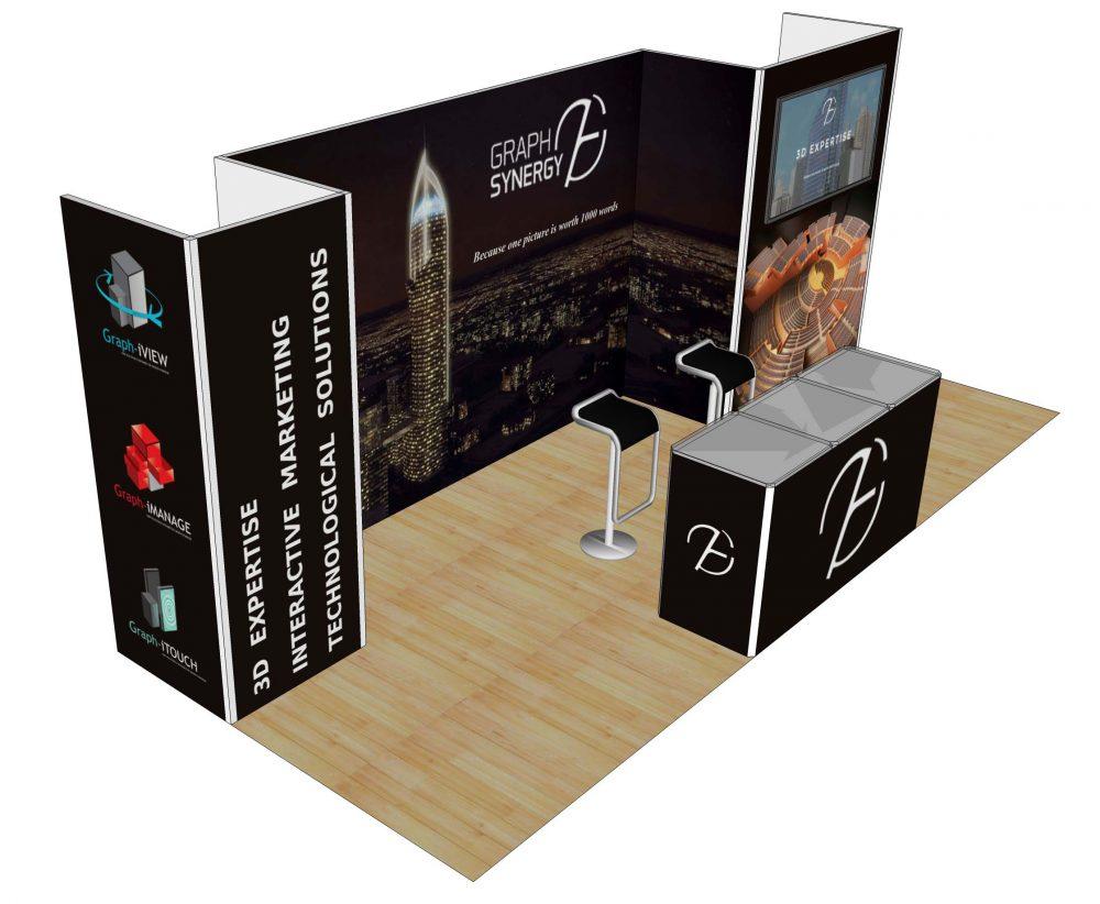 10x20 Custom Trade Show Booth Rental Vegas