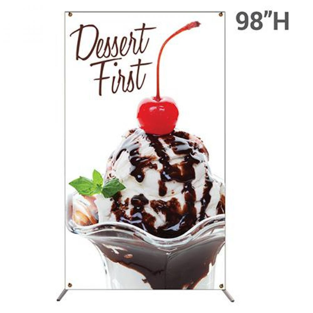 """59""""w x 98""""h Large X Banner Stand With Graphic"""