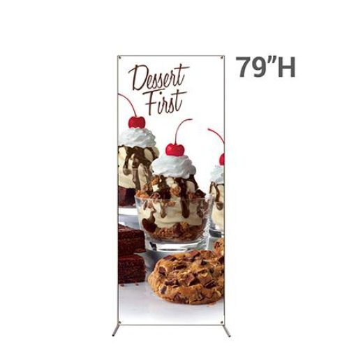 32 in x 79 in X-Frame Banner Display With Graphic