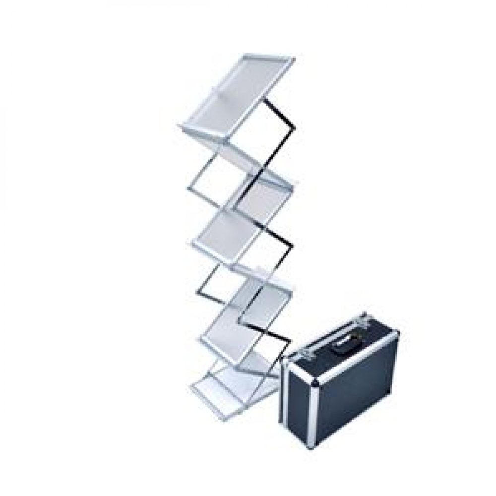 collapsible literature rack