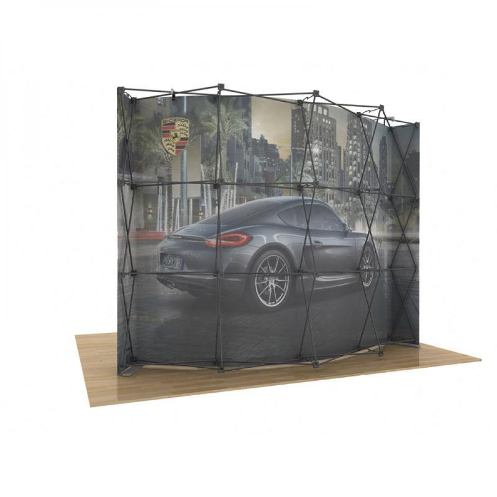 10x10 Curved pop up booth for trade shows