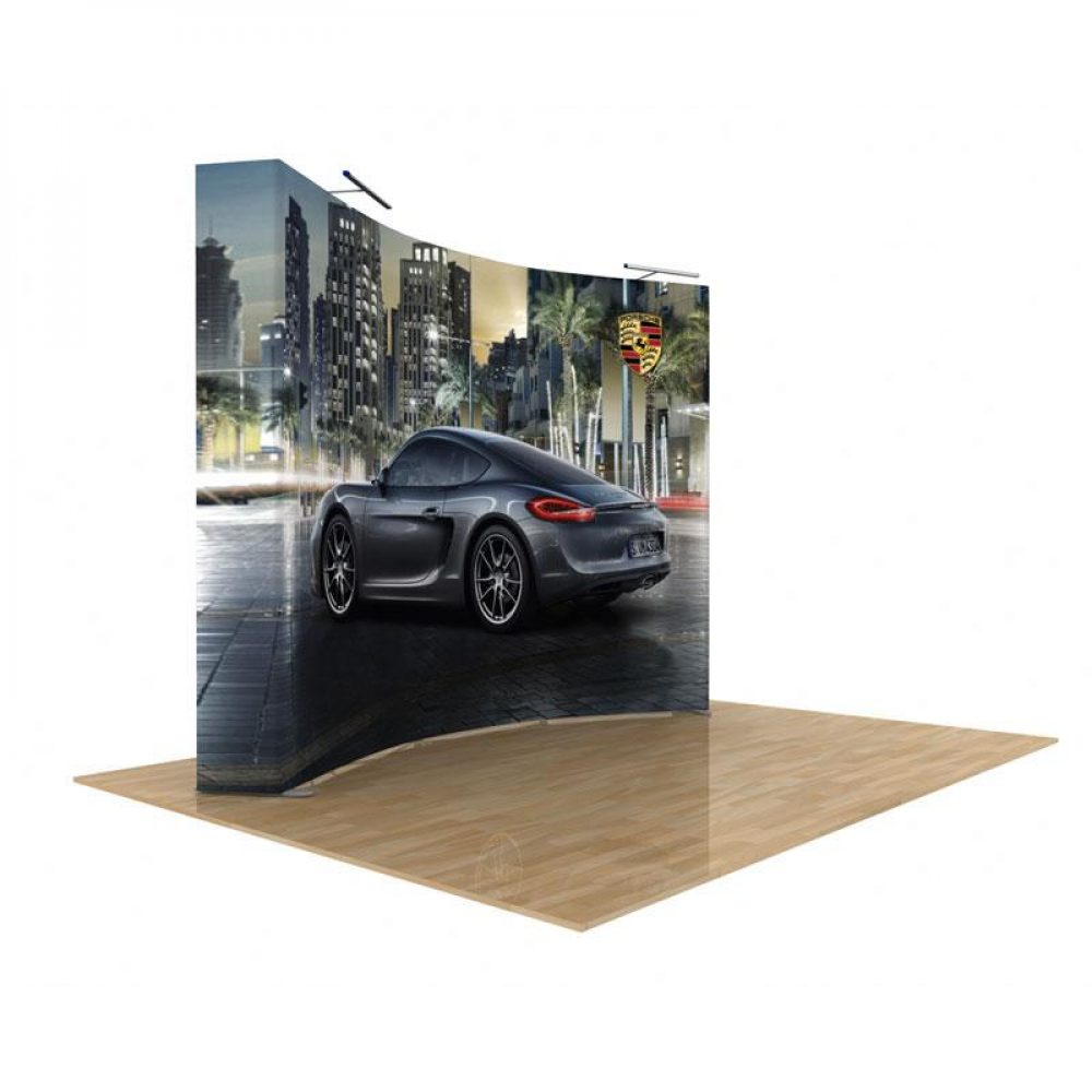 10x10 Curved pop up displays for trade shows
