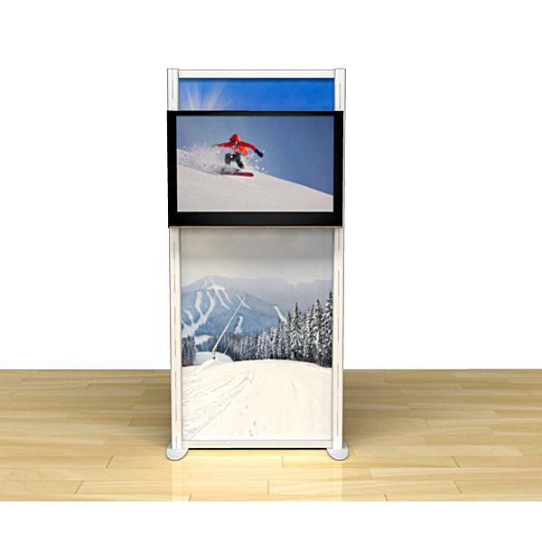 Fabric Exhibition Stand Goal : Exhibition tv stands plasma monitor holder with graphic