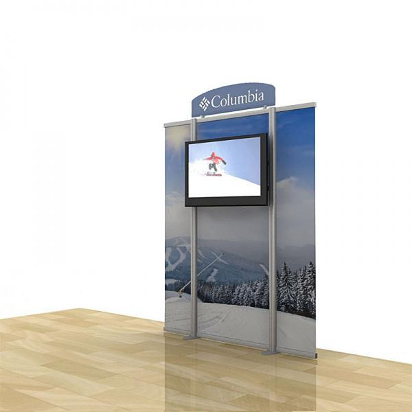 Tall Tv Stands With Graphics Plasma Lcd Mount For Trade Shows