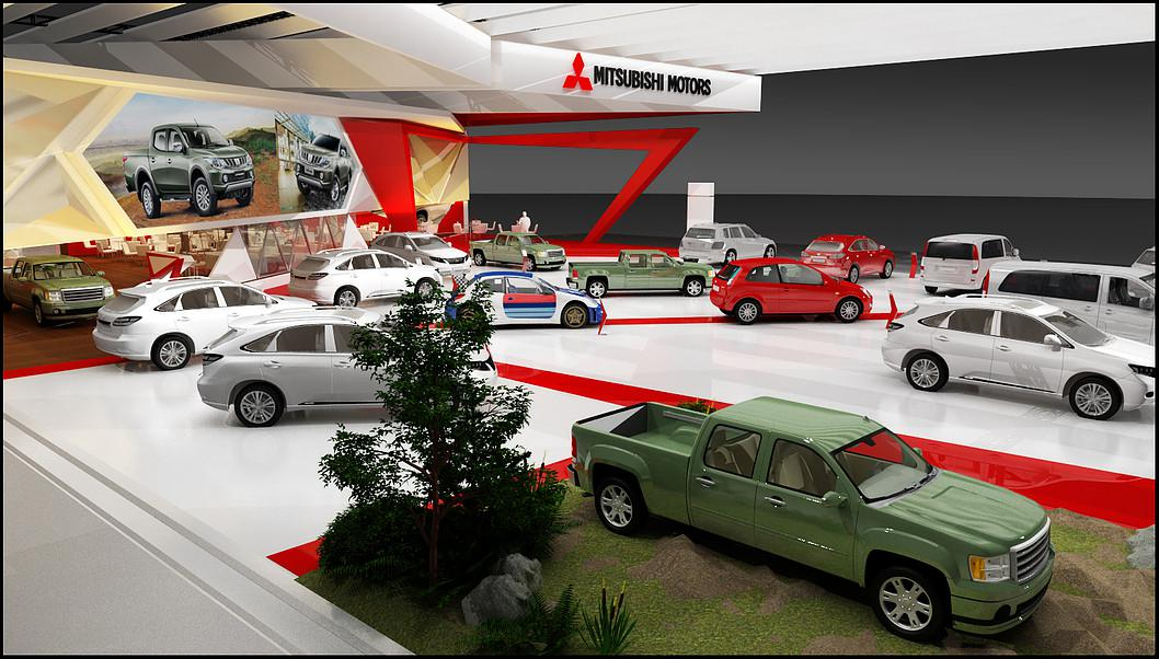 Automobile Showroom 3d Artist designer showroom Boston