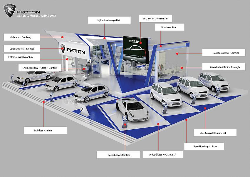 Car, Auto Dealer Showroom 3d model layout designers car dealer showroom 3d interior designers design Los Angeles