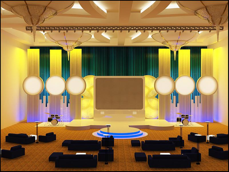 unusual conference room stage 3d design md