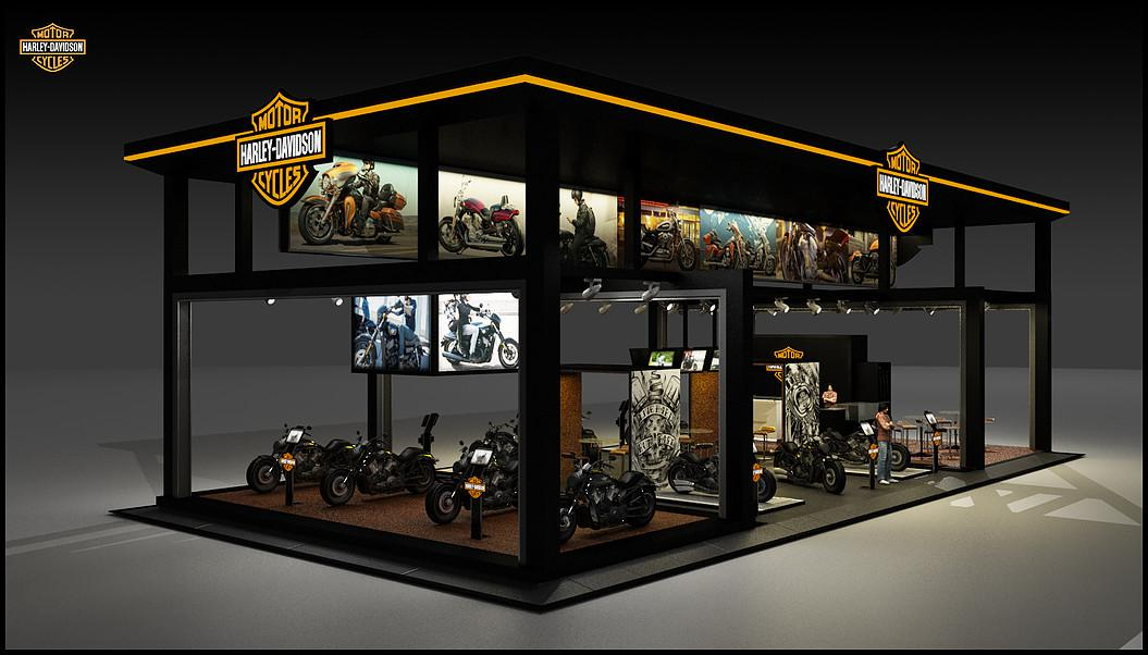 motorcycle shop 3d designers tx