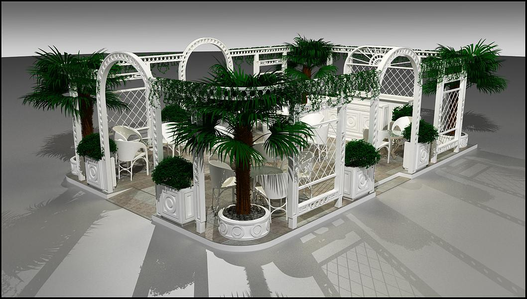 outdoor party house 3d Artist designers