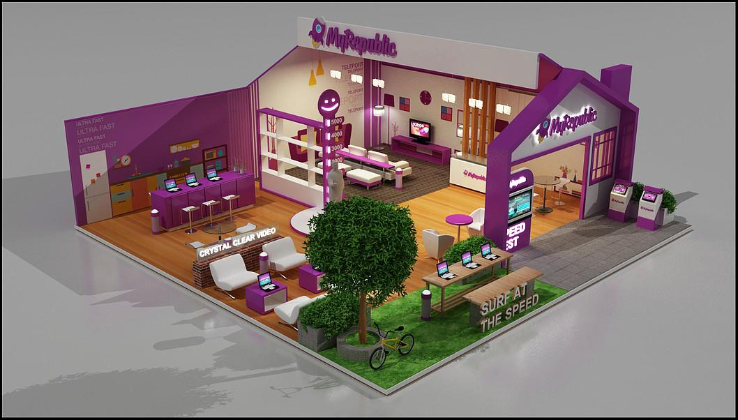 retail shop, coffee stores 3d designer va