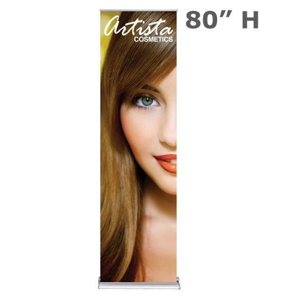 "24"" x 80"" Retractable Banner Stand With Fabric"