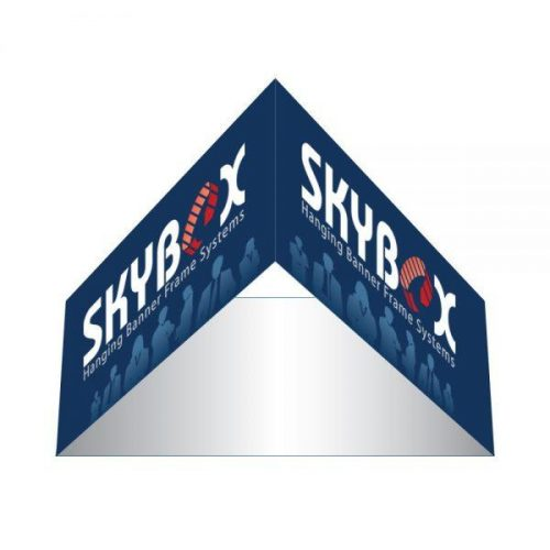 Rental 8ft Triangle Hanging Banner 24in Outside Graphic Package