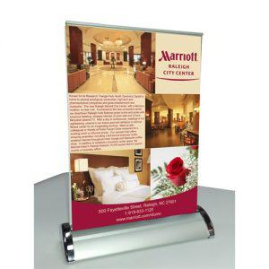 Rental Mini Retractable Banner Stand