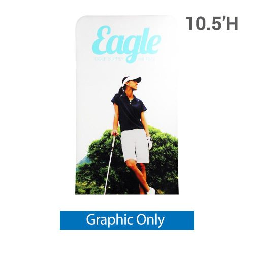 EZ Extend 4 ft. x 10.5 ft. - Single-Sided Graphic Only (w/ Black Back Fabric)