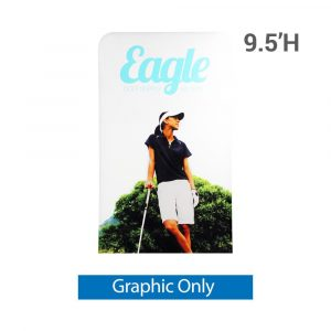 EZ Extend 4 ft. x 9.5 ft. - Single-Sided Graphic Only (w/ White Back Fabric)