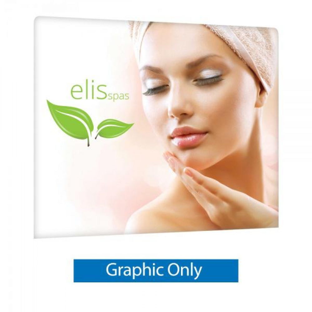 8 Ft. EZ Tube Display - Straight Double-Sided Graphic Only