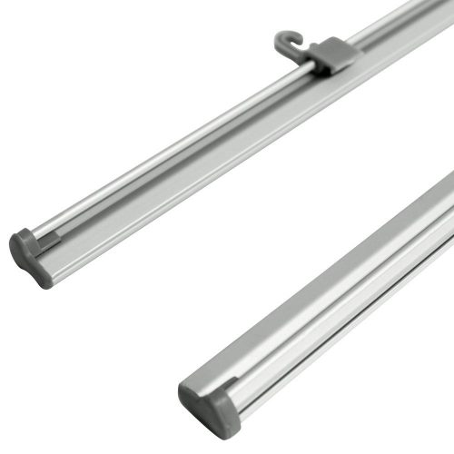 5 ft. Hanging Clamp Bar Banner Display - Silver (Frame Only)
