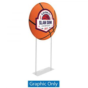 EZ Extend  Circle 3ft. Display - Single-Sided Graphic Only (w/ White Back Fabric)