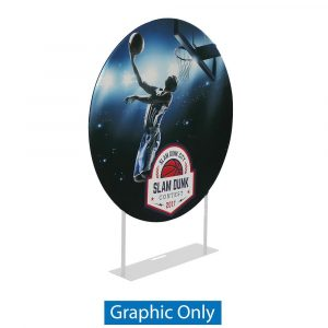 EZ Extend  Circle 5ft. Display - Single-Sided Graphic Only (w/ Black Back Fabric)