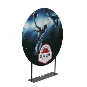 EZ Extend Circle 5ft. - Single-Sided Graphic Package (w/ Black Back Fabric)