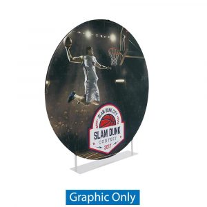 EZ Extend  Circle 7ft. Display - Single-Sided Graphic Only (w/ Black Back Fabric)