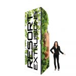 60D Big Sky Square Tower - 4'W x 12'H x 4'D BLACK (Stretch Graphic Package)