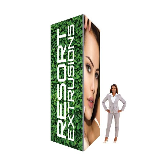 60D Big Sky Square Tower - 4'W x 12'H x 4'D (Stretch Graphic Package)