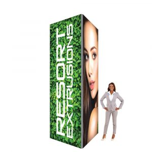 60D Big Sky Square Tower - 4'W x 12'H x 4'D (UV Backlit Graphic Package)