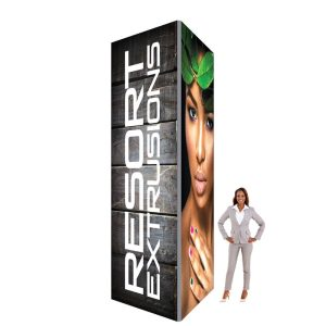 60D Big Sky Square Tower - 4'W x 14'H x 4'D (UV Backlit Graphic Package)