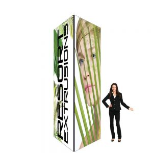 60D Big Sky Square Tower - 5'W x 12'H x 5'D BLACK (Stretch Graphic Package)