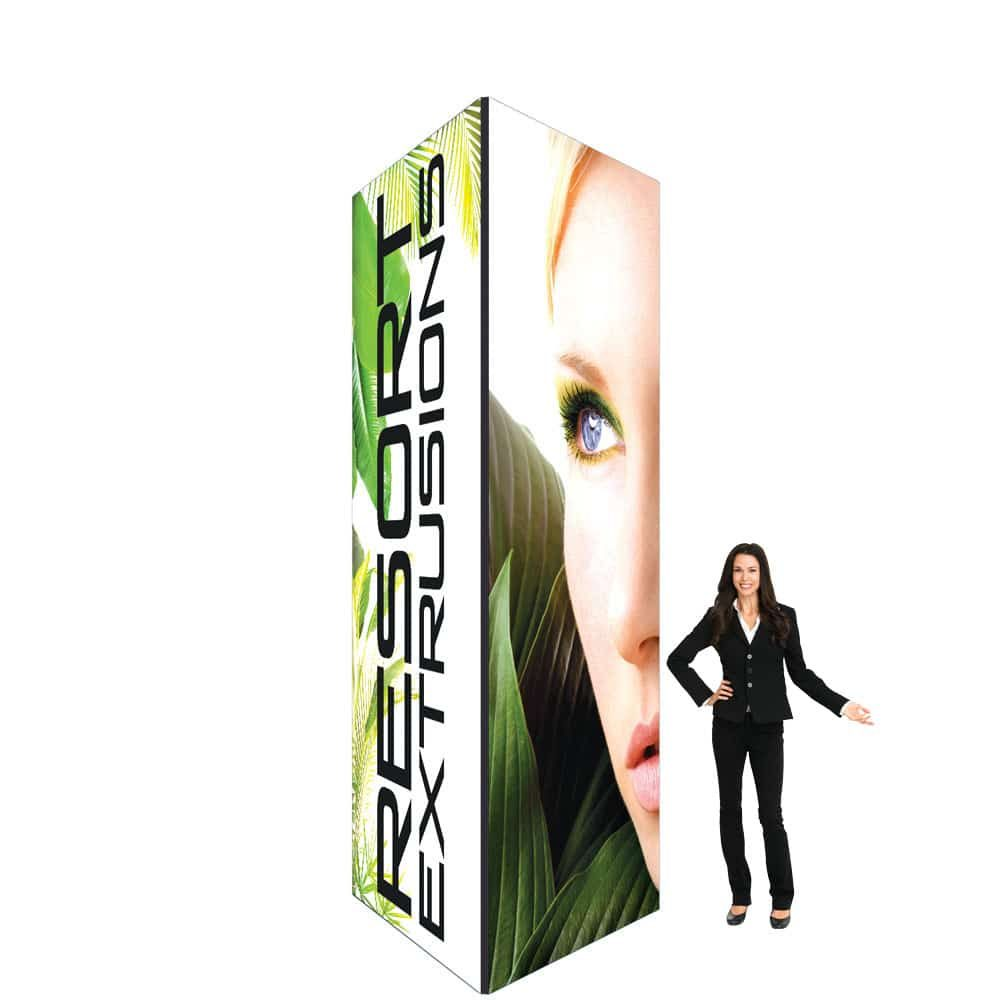 60D Big Sky Square Tower - 5'W x 12'H x 5'D BLACK (UV Backlit Graphic Package)
