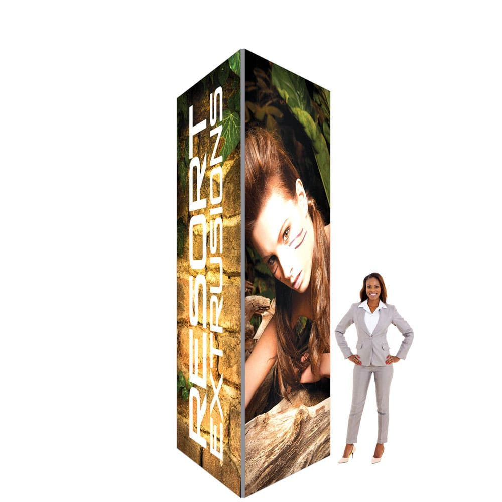 60D Big Sky Square Tower - 5'W x 12'H x 5'D (UV Backlit Graphic Package)