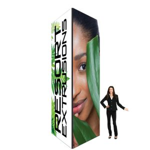 60D Big Sky Square Tower - 5'W x 14'H x 5'D BLACK (Stretch Graphic Package)