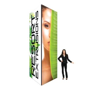 60D Big Sky Square Tower - 5'W x 14'H x 5'D BLACK (UV Backlit Graphic Package)