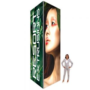 60D Big Sky Square Tower - 5'W x 16'H x 5'D (UV Backlit Graphic Package)