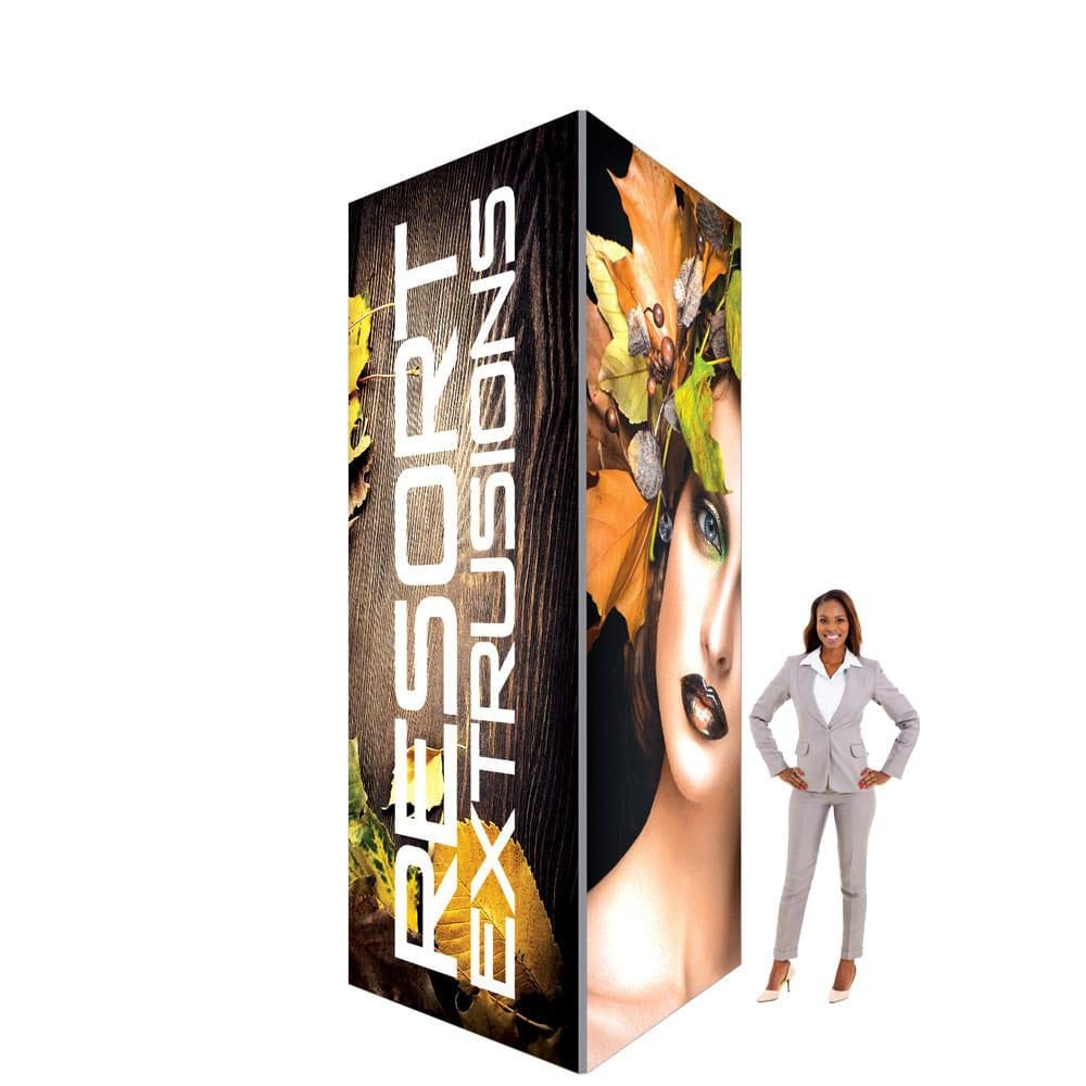 60D Big Sky Square Tower - 6'W x 12'H x 6'D (UV Backlit Graphic Package)