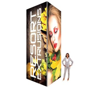 60D Big Sky Square Tower - 6'W x 16'H x 6'D (UV Backlit Graphic Package)