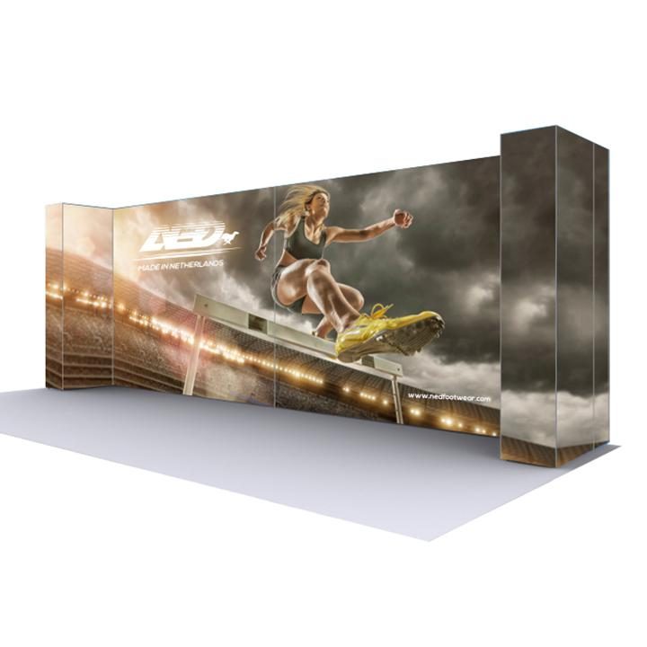 20 Lightbox Display Stand Trade Show 20ft Backwall