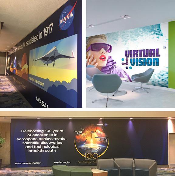 Wall murals and custom wall graphics va md dc for Custom vinyl mural prints