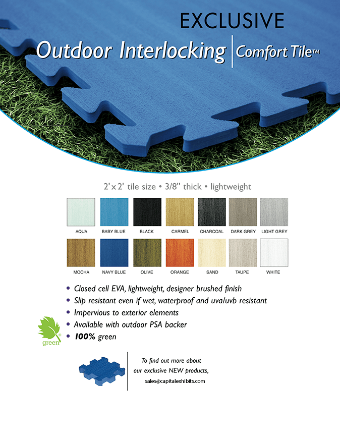 Outdoor Interlocking Trade Show Flooring